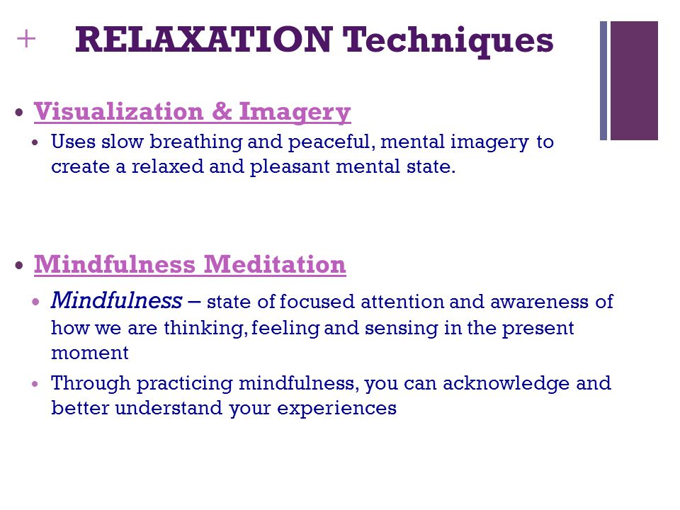 RELAXATION Techniques