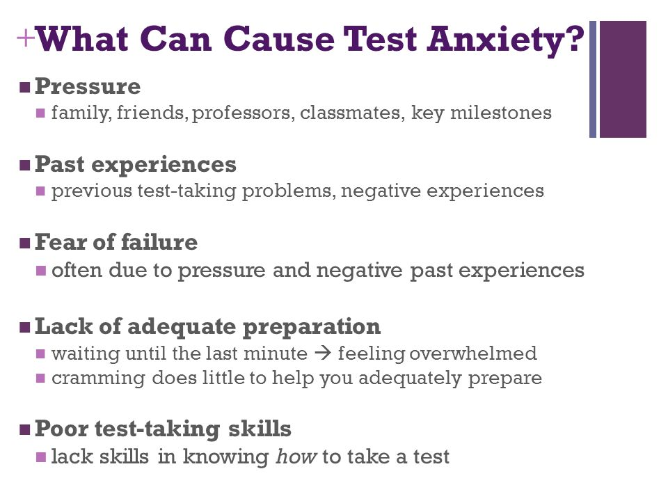 What Can Cause Test Anxiety