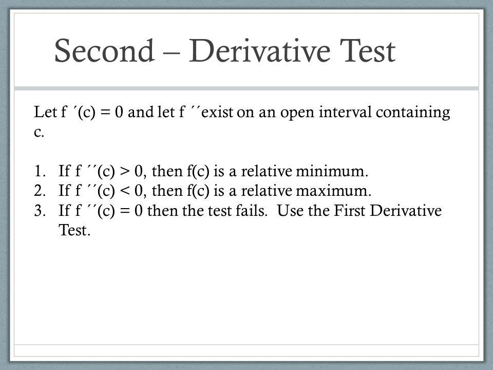 Second – Derivative Test