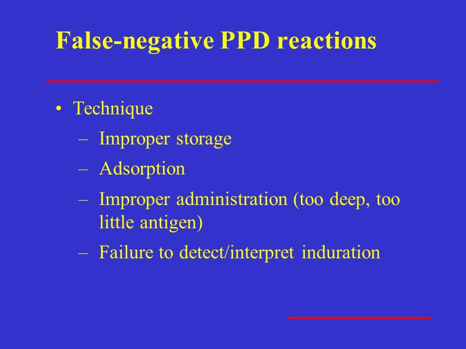 False-negative PPD reactions