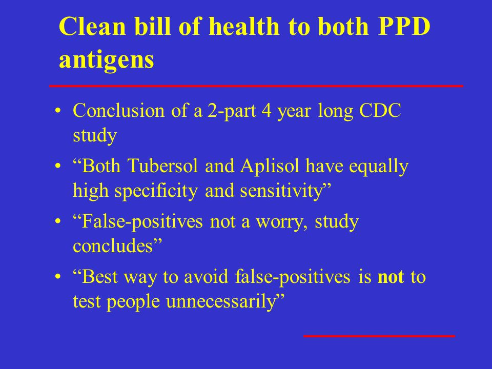 Clean bill of health to both PPD antigens