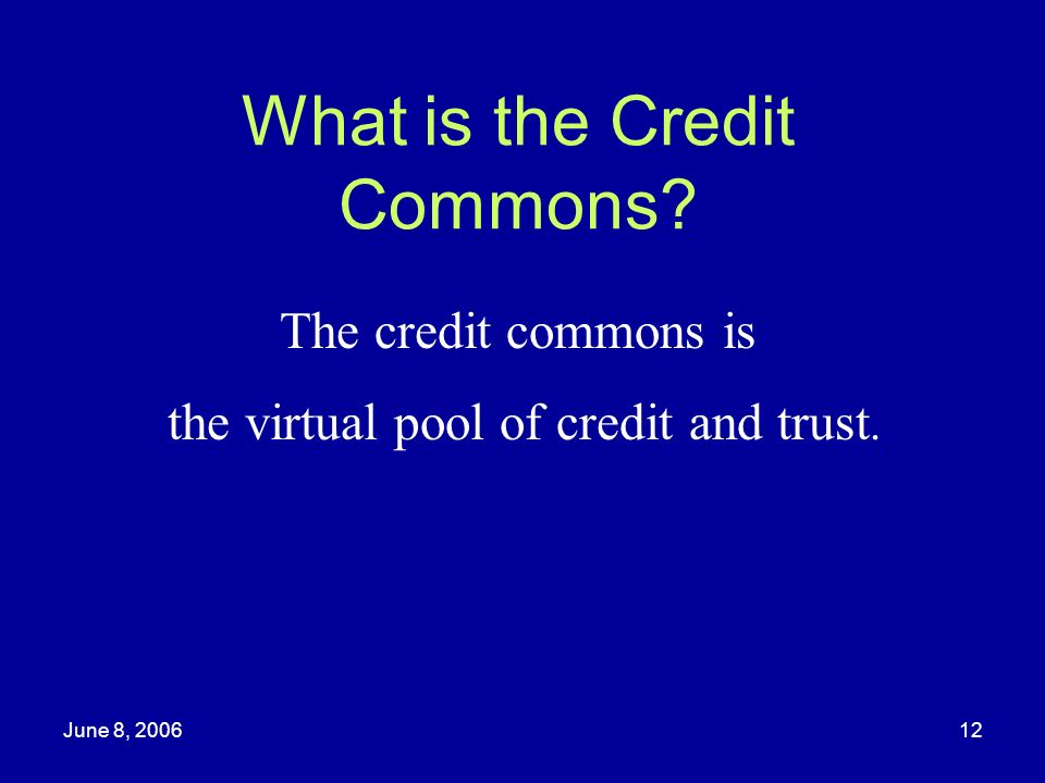 What is the Credit Commons