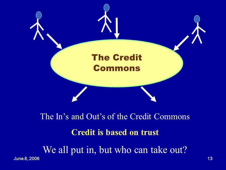 Credit is based on trust