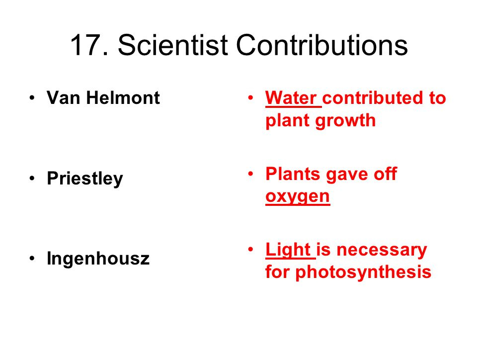 17. Scientist Contributions