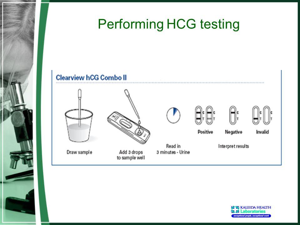 Performing HCG testing