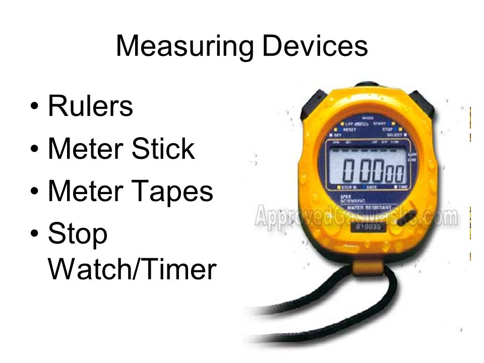 Measuring Devices Rulers Meter Stick Meter Tapes Stop Watch/Timer