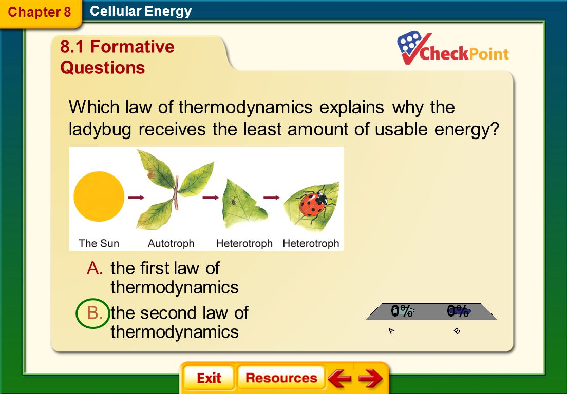 Chapter 8 Cellular Energy. 8.1 Formative Questions.