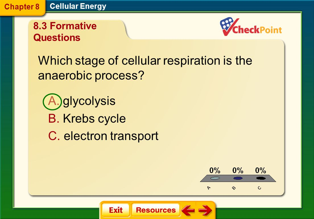 Which stage of cellular respiration is the anaerobic process