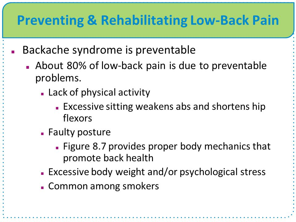 Preventing & Rehabilitating Low-Back Pain