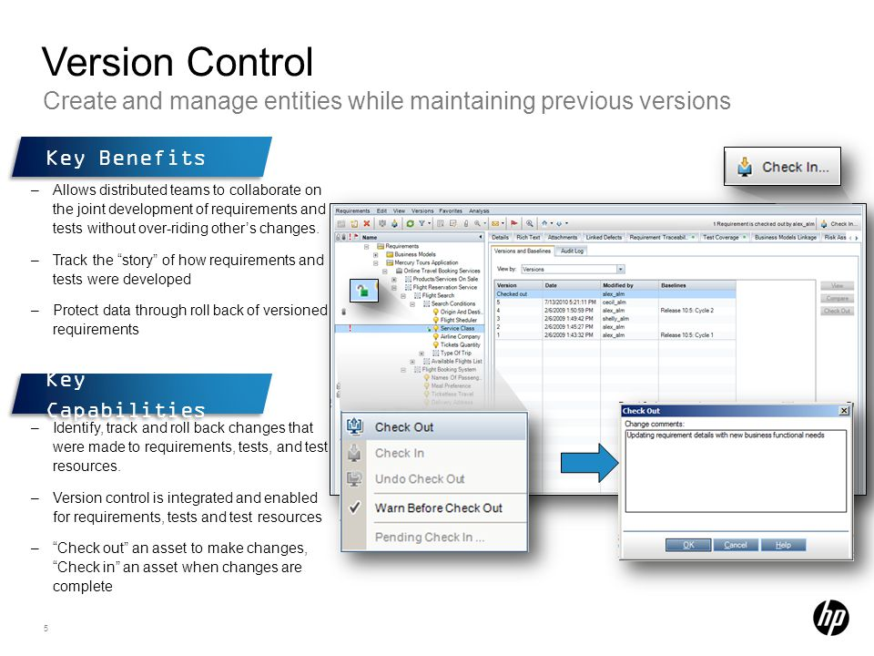Version Control Create and manage entities while maintaining previous versions. Key Benefits.