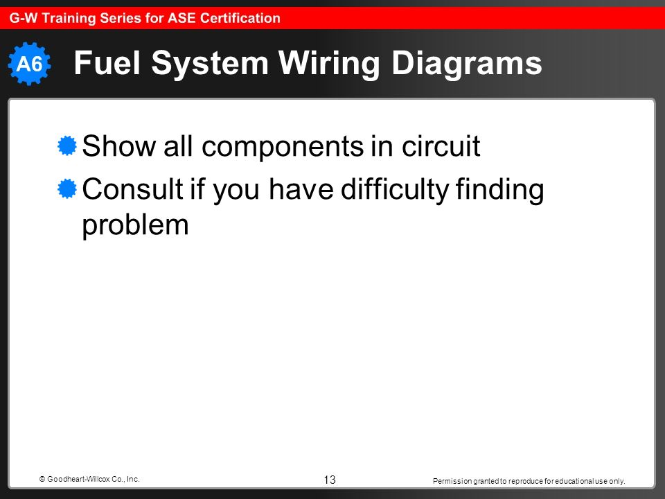 Fuel System Wiring Diagrams