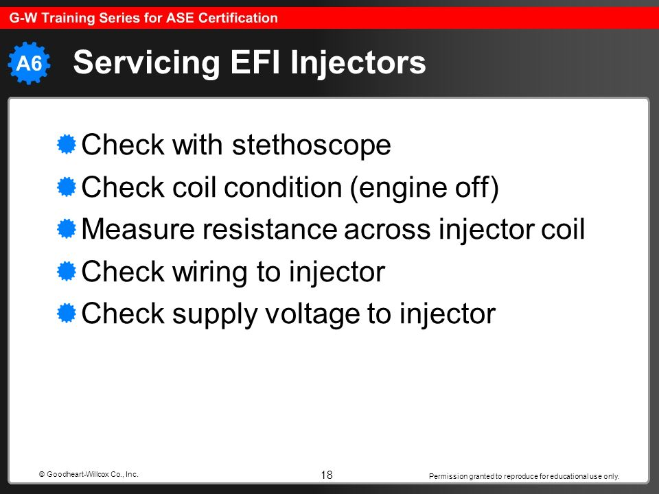 Servicing EFI Injectors