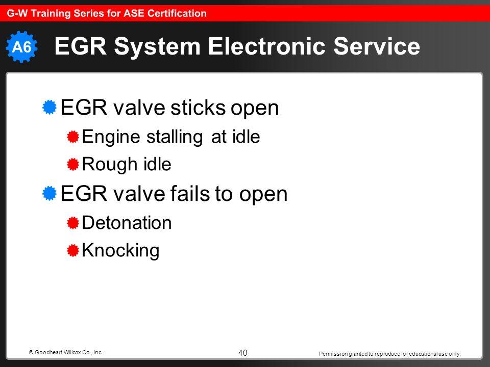 EGR System Electronic Service