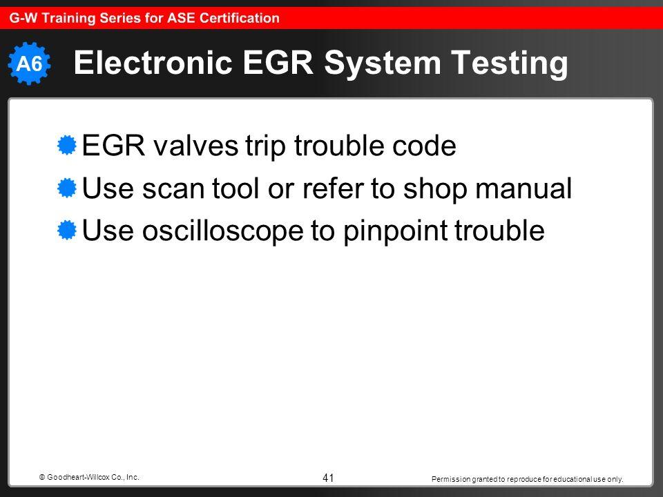 Electronic EGR System Testing