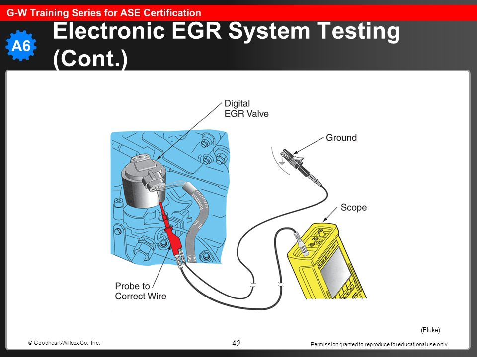 Electronic EGR System Testing (Cont.)