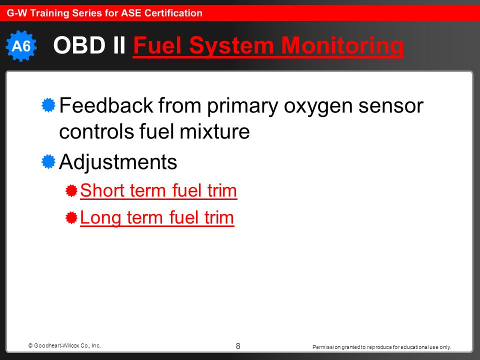 OBD II Fuel System Monitoring