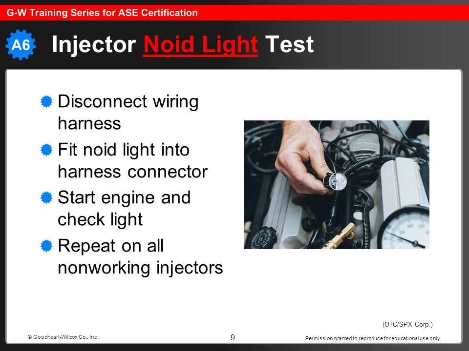 Injector Noid Light Test