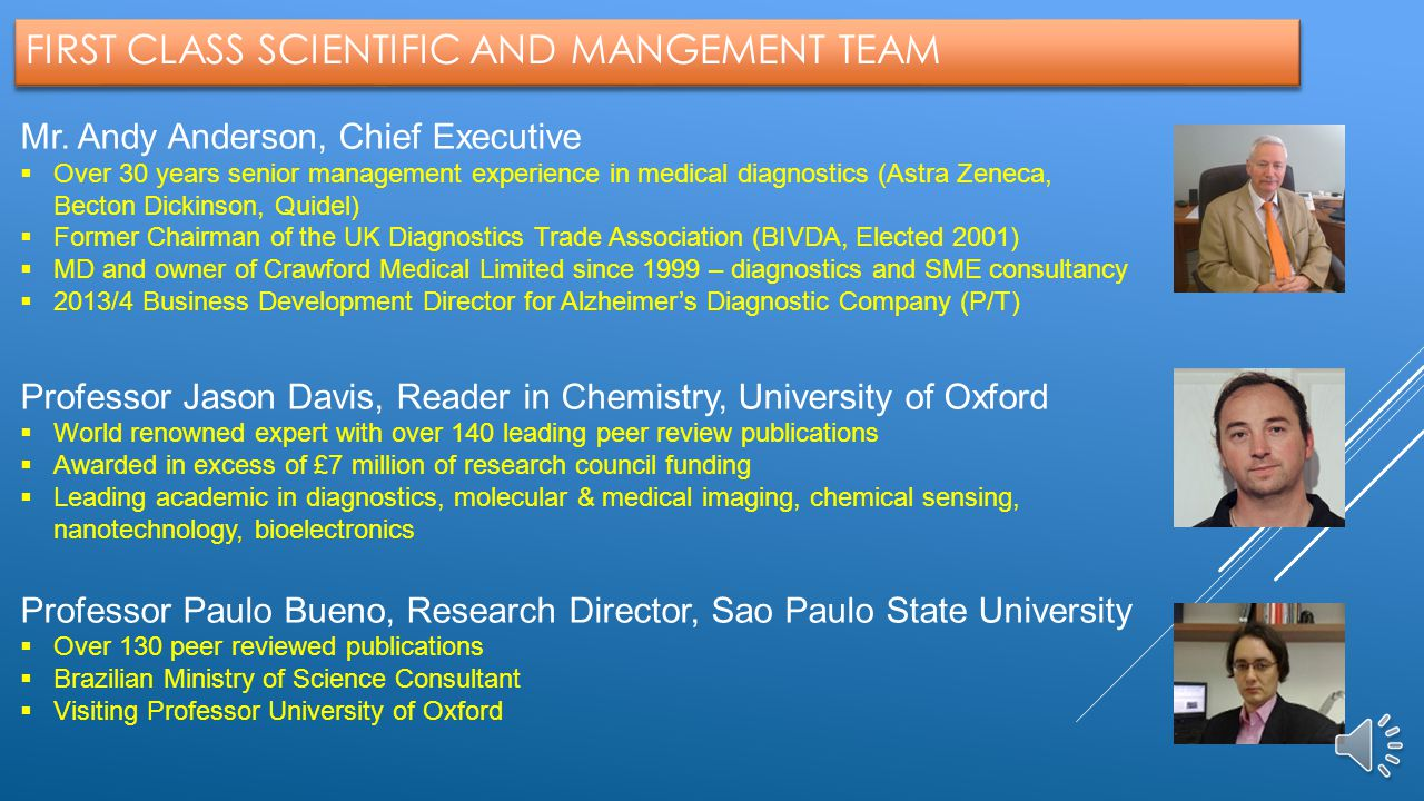 FIRST CLASS SCIENTIFIC AND MANGEMENT TEAM