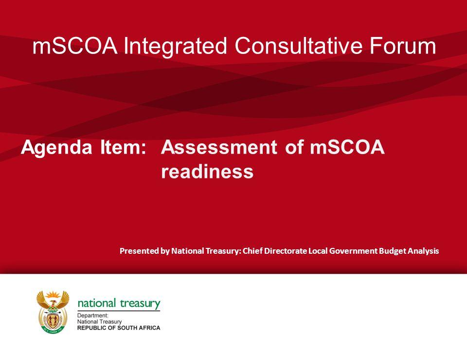 mSCOA Integrated Consultative Forum