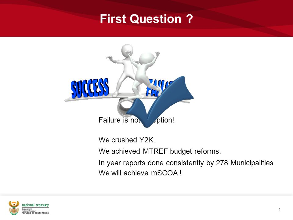 First Question Failure is not an option! We crushed Y2K.