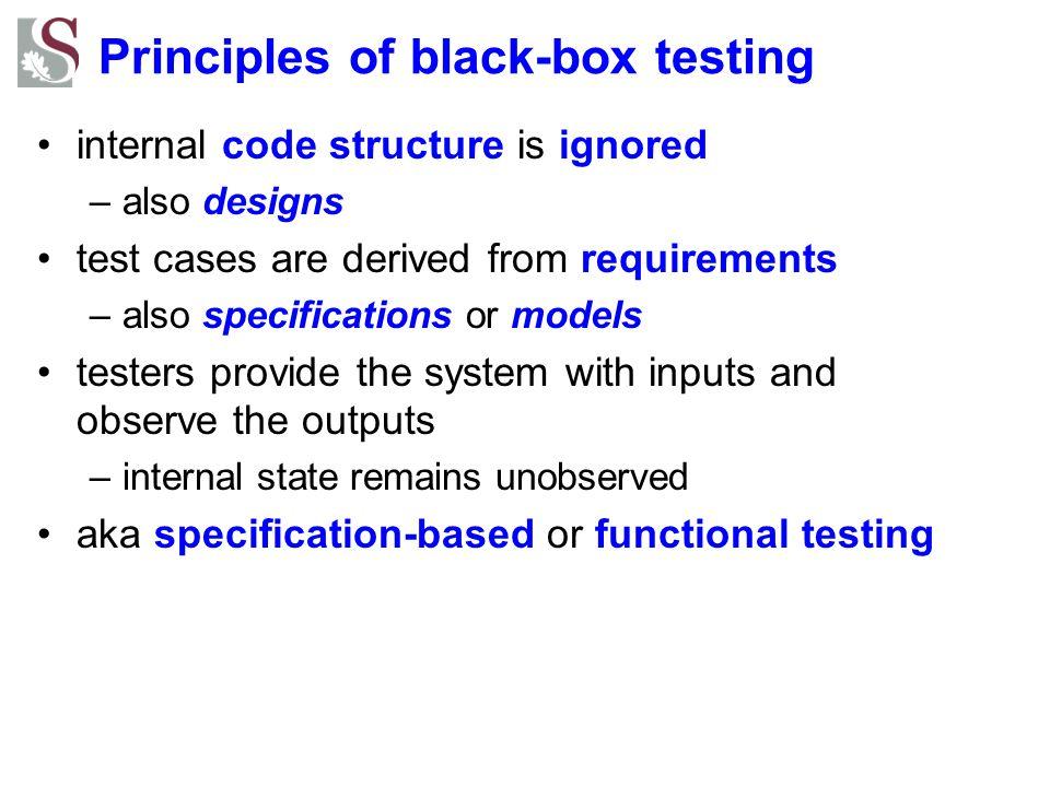 Principles of black-box testing