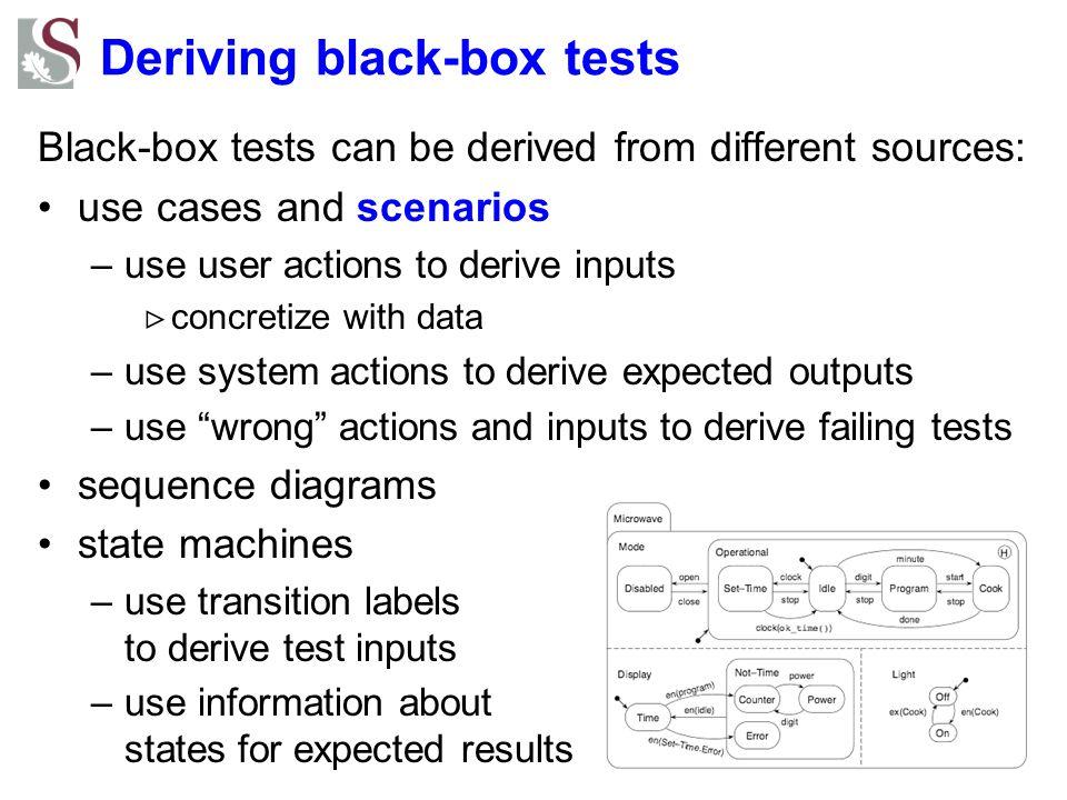 Deriving black-box tests