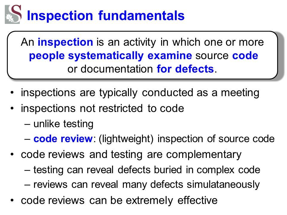 Inspection fundamentals