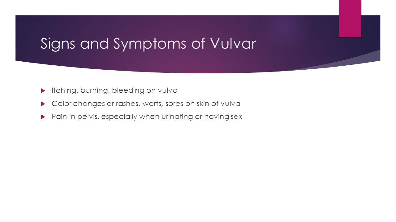 Signs and Symptoms of Vulvar