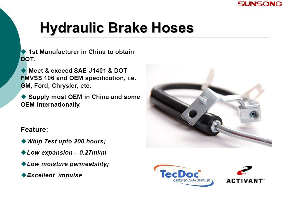 Hydraulic Brake Hoses Feature: