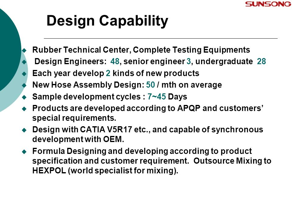Design Capability Rubber Technical Center, Complete Testing Equipments
