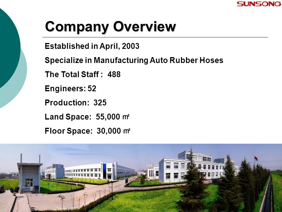 Company Overview Established in April, 2003