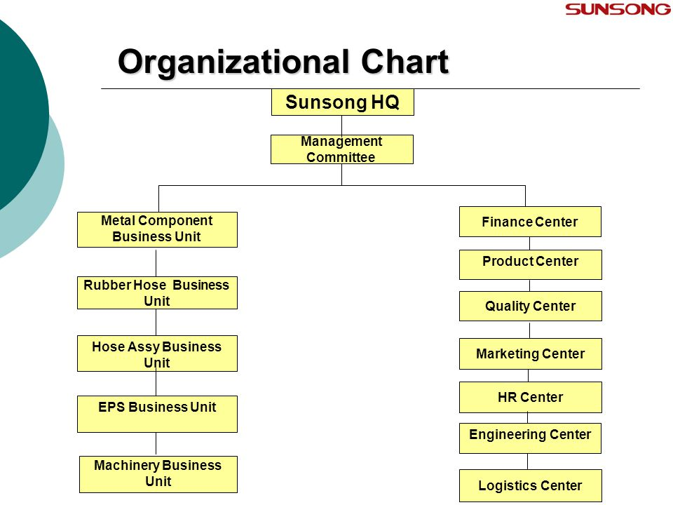Organizational Chart Sunsong HQ Management Committee