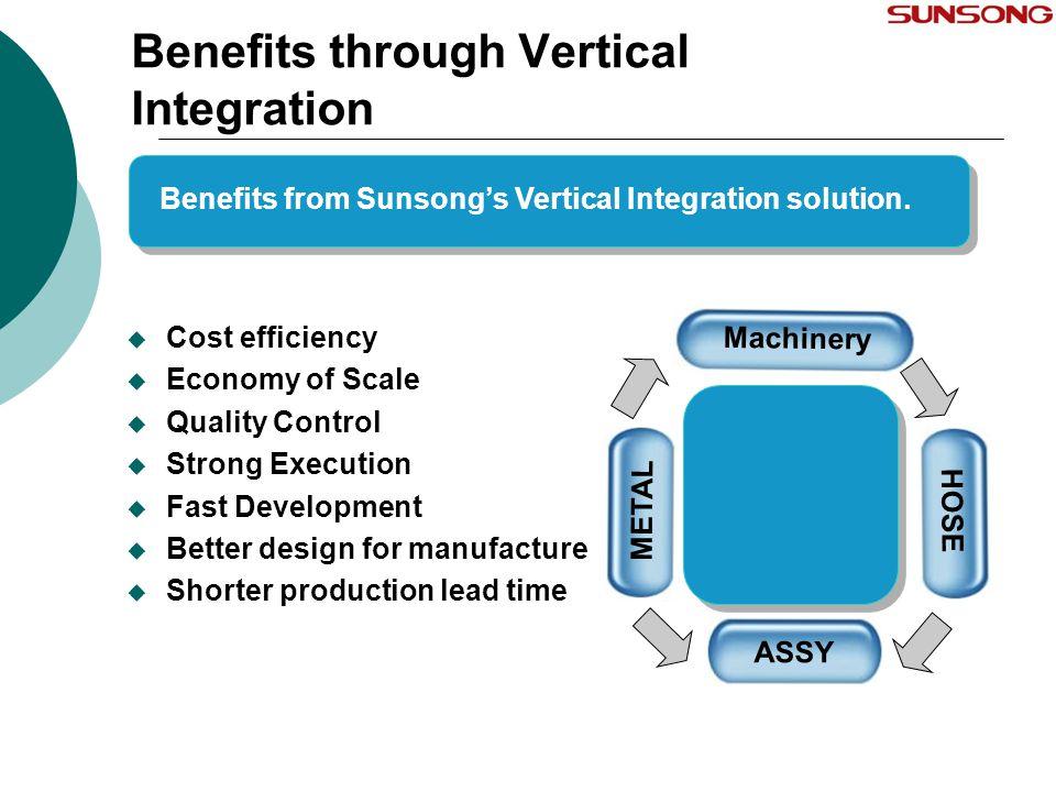 Benefits through Vertical Integration