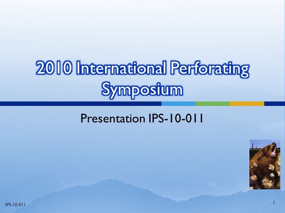 2010 International Perforating Symposium