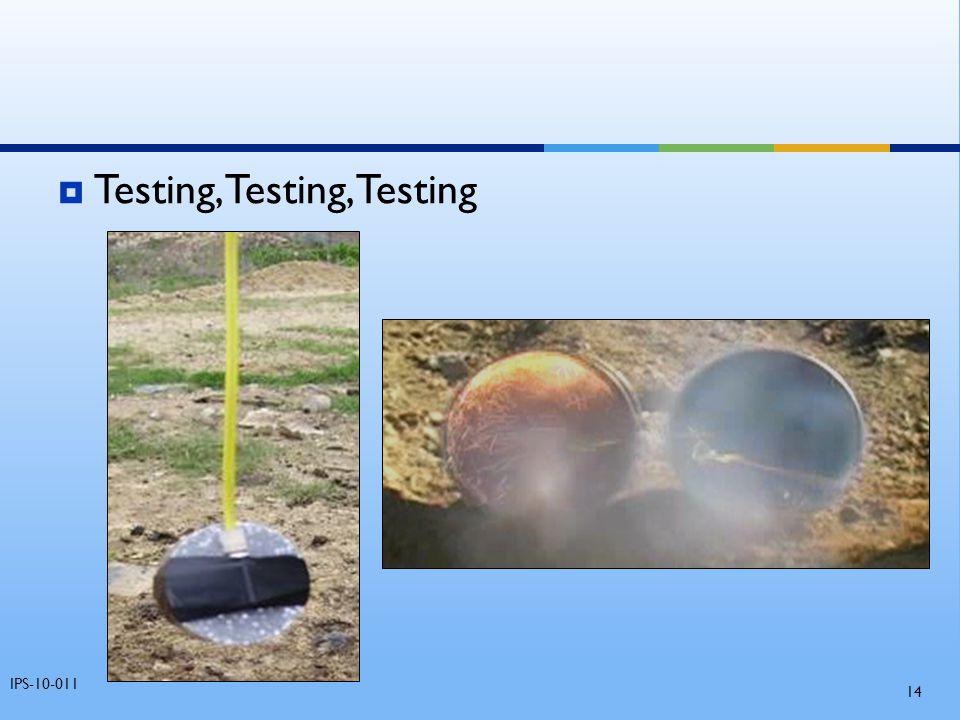 Testing, Testing, Testing