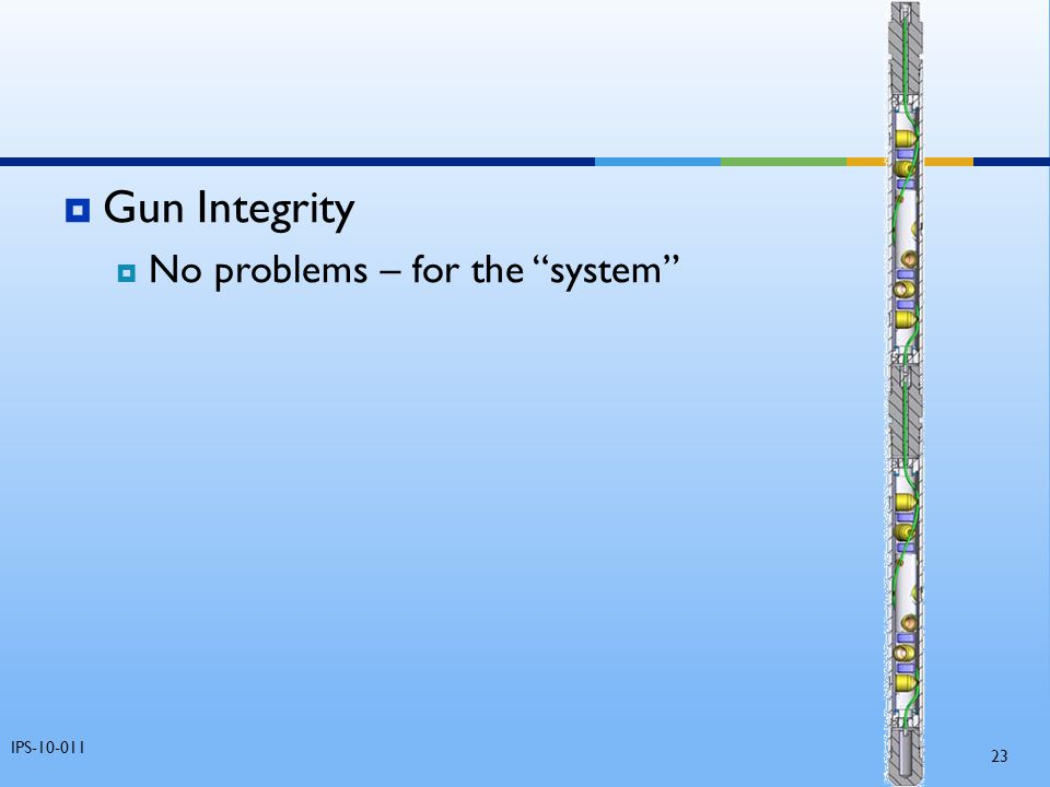 Gun Integrity No problems – for the system IPS-10-011