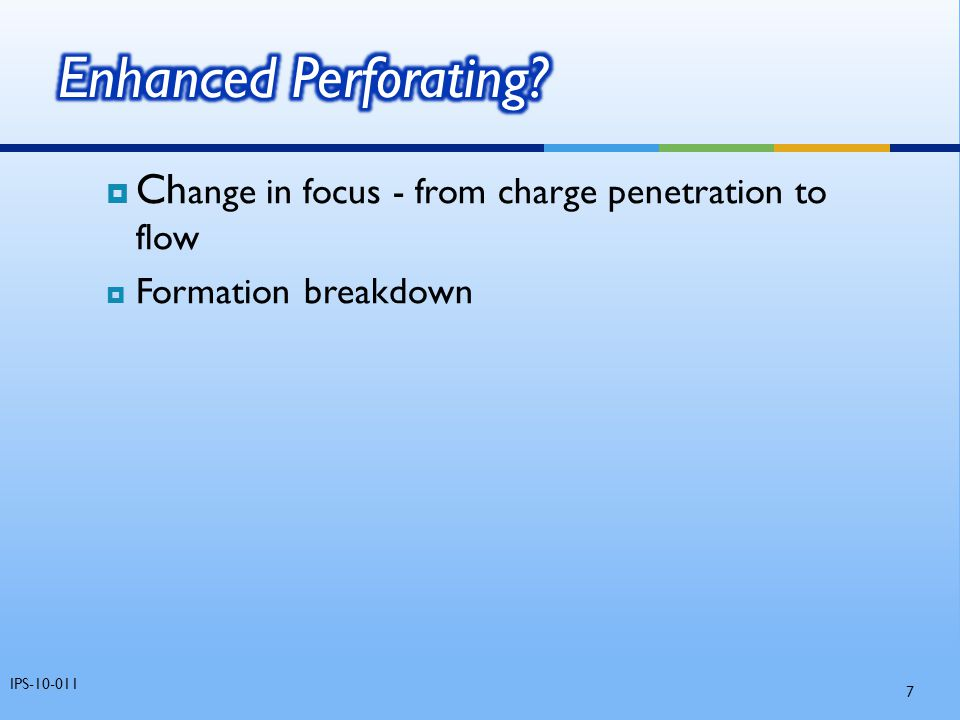 Enhanced Perforating. Change in focus - from charge penetration to flow.