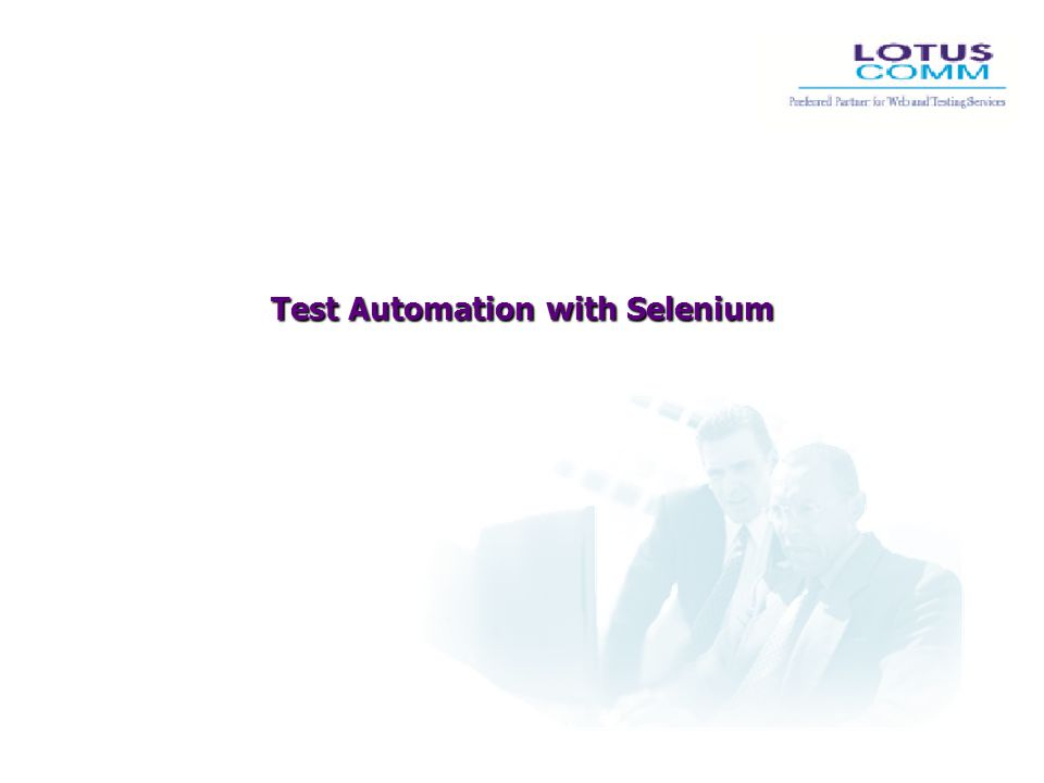 Test Automation with Selenium