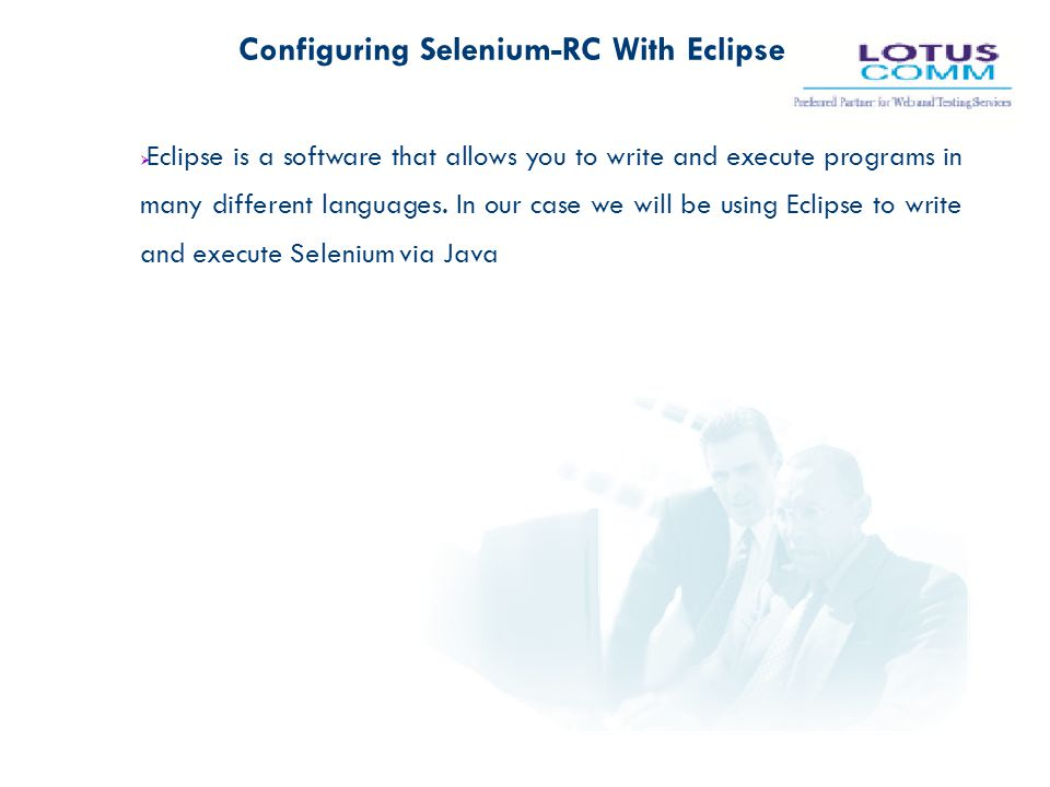 Configuring Selenium-RC With Eclipse