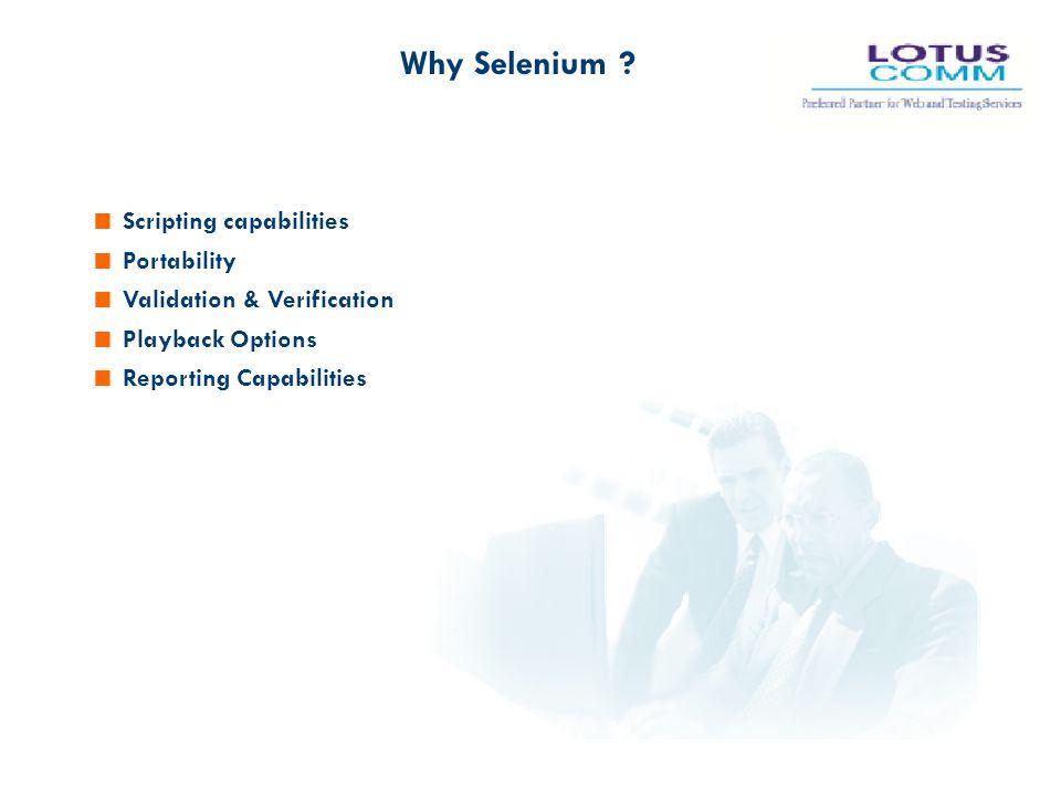 Why Selenium Scripting capabilities Portability