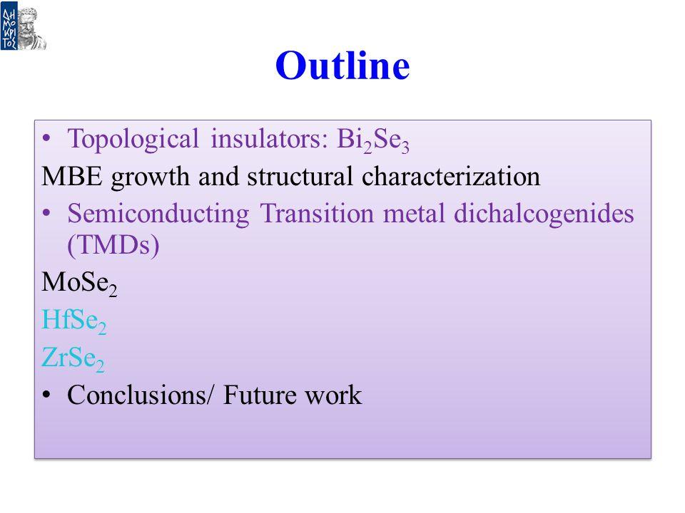 Outline Topological insulators: Bi2Se3