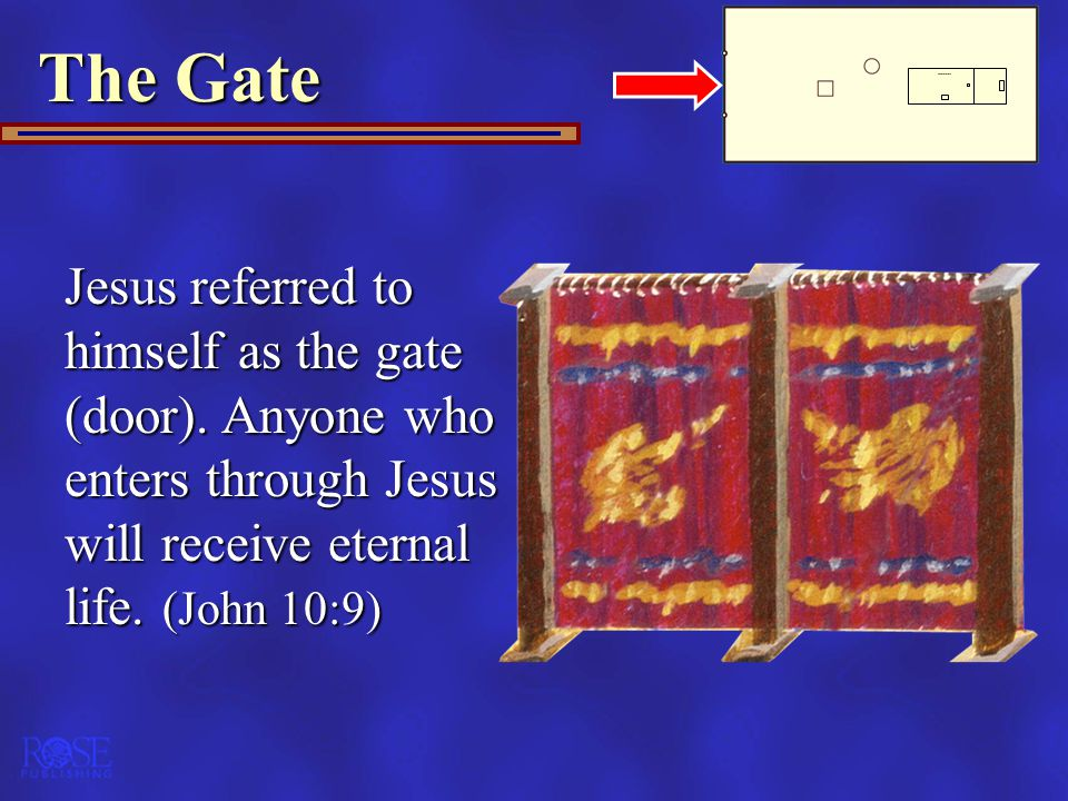 The Gate Jesus referred to himself as the gate (door).