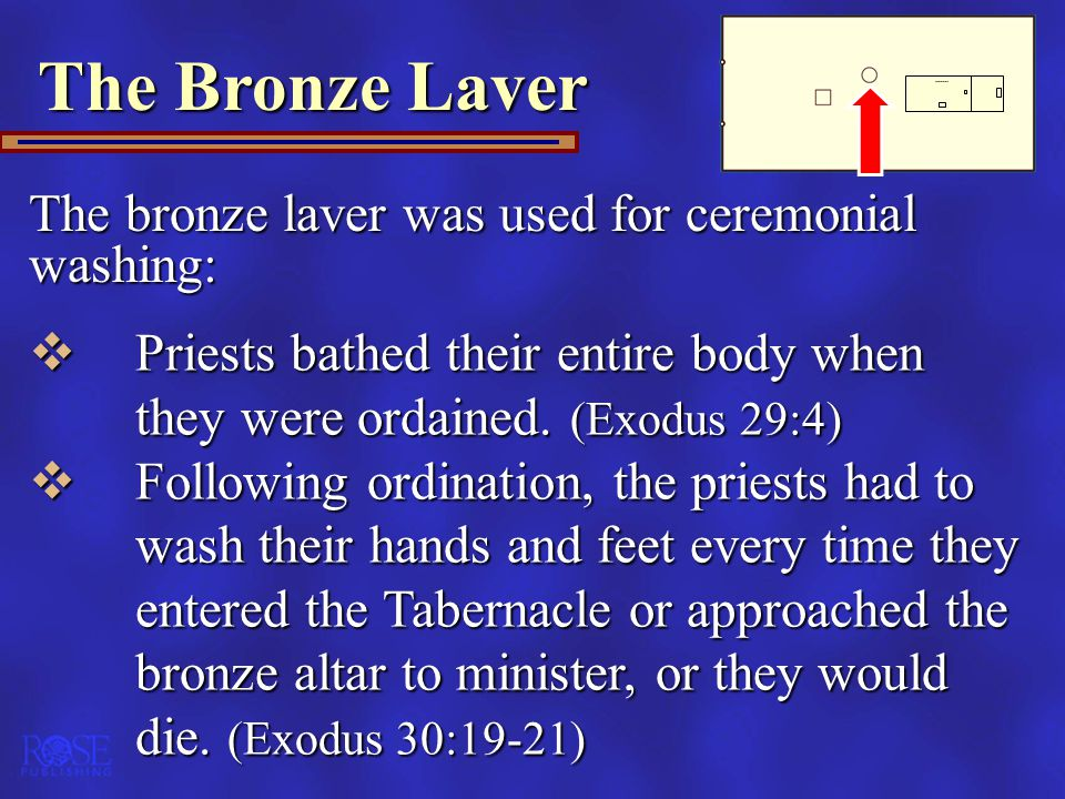 The Bronze Laver The bronze laver was used for ceremonial washing: