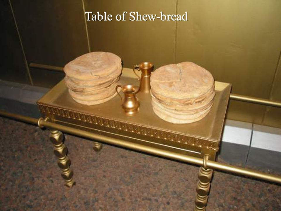 Table of Shew-bread Lev 24:6 – 12 cakes / 2 in each row = Double meaning accomplished by stacking in two rows of 6.