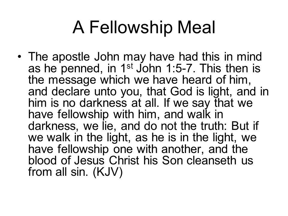 A Fellowship Meal