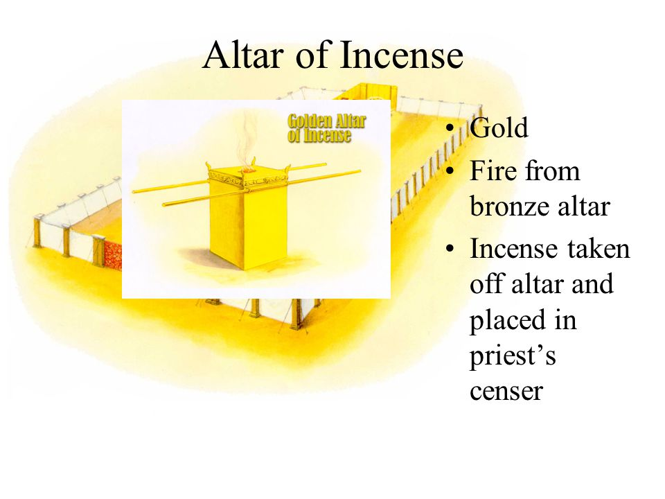 Altar of Incense Gold Fire from bronze altar