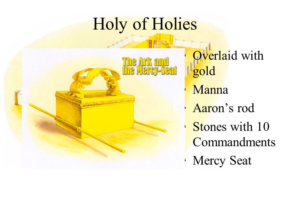 Holy of Holies Overlaid with gold Manna Aaron's rod