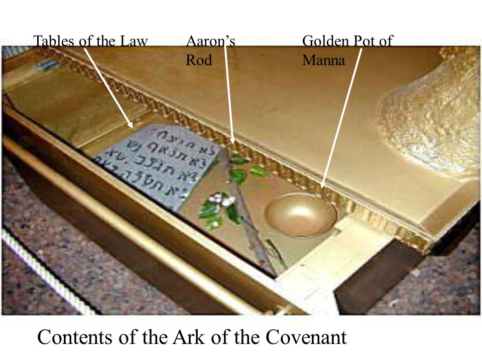 Contents of the Ark of the Covenant