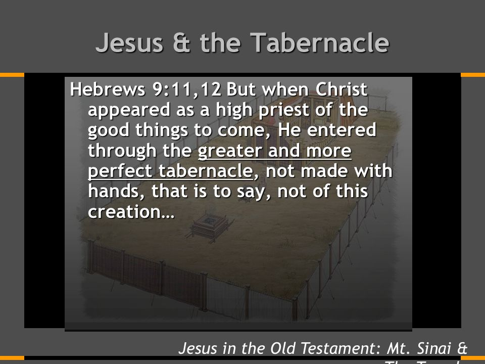 Jesus & the Tabernacle