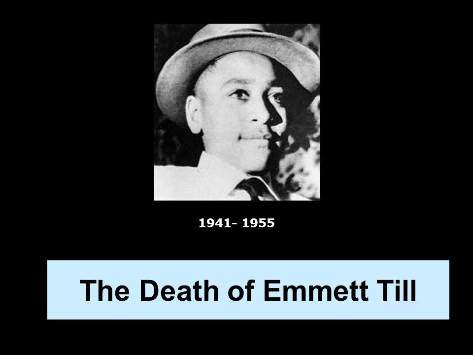 The Death of Emmett Till